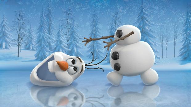 O boneco de neve Olaf, personagem da animação Frozen: Uma Aventura Congelante