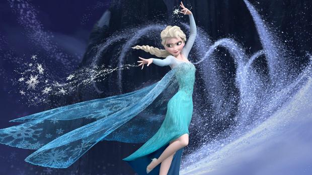 Elsa, personagem da animação Frozen: Uma Aventura Congelante