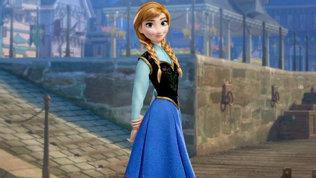 Anna, personagem da animação Frozen: Uma Aventura Congelante