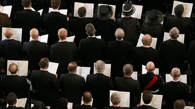 Apresentação de coro durante o funeral da ex-primeira-ministra britânica Margaret Thatcher