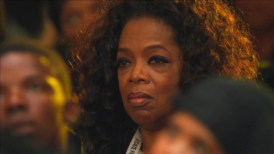 Oprah Winfrey no funeral de Nelson Mandela