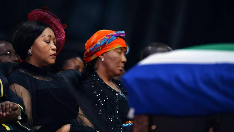 Makaziwe Mandela (centro), filha de Nelson Mandela