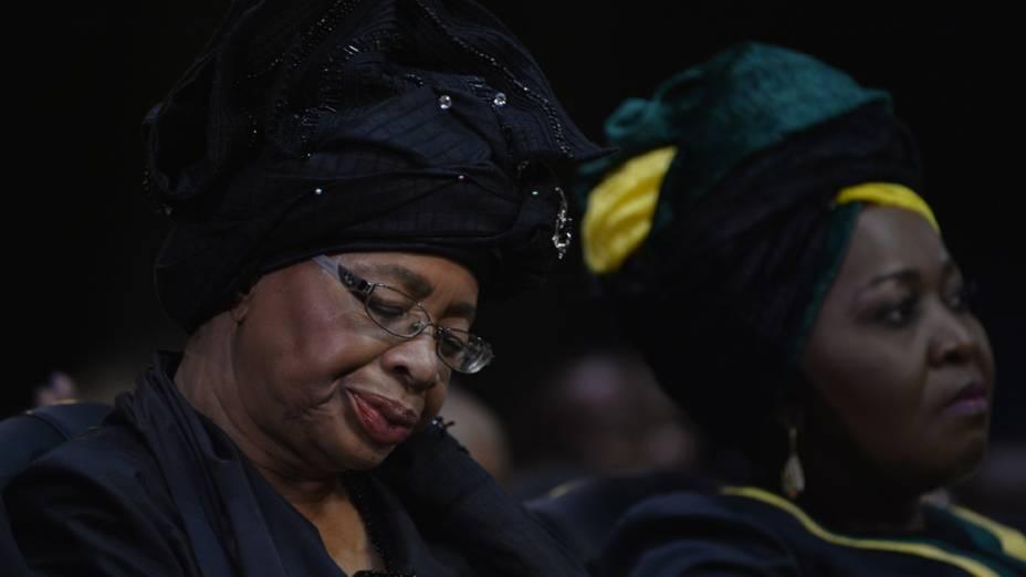 Graça Machel, viúva de Nelson Mandela, durante o funeral em Qunu