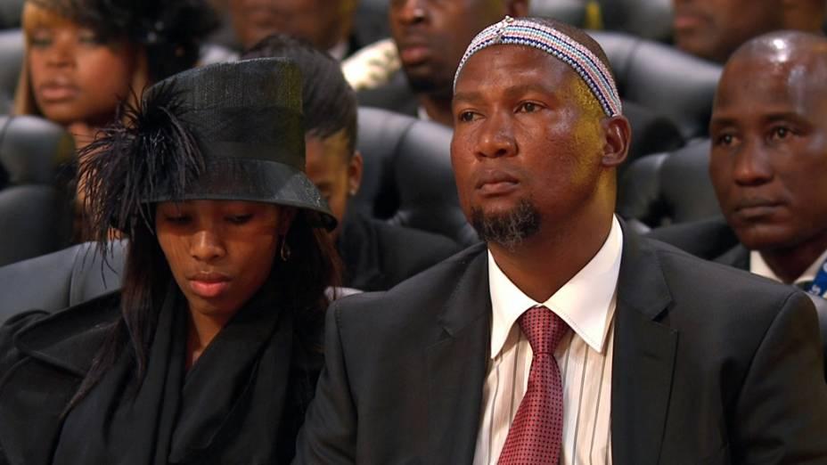 Mandla Mandela, neto de Nelson Mandela, no funeral em Qunu