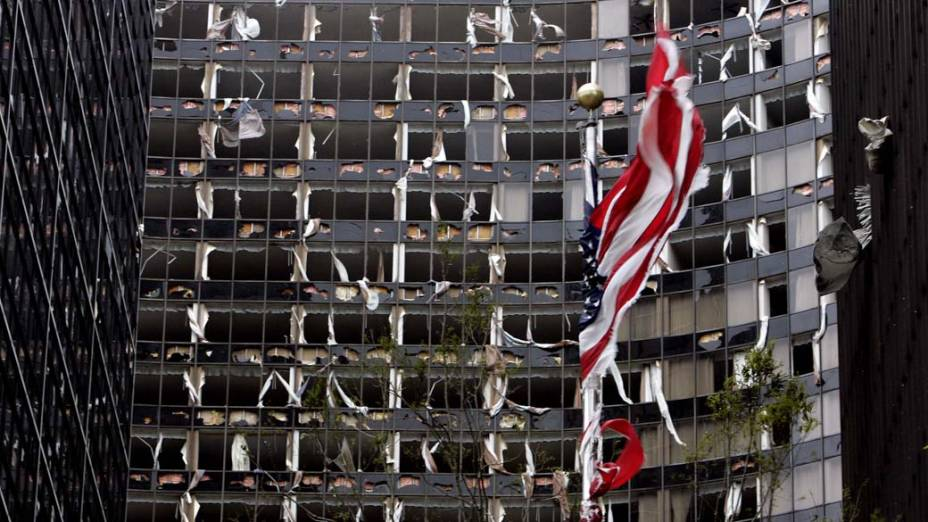 Hotel destruído pelo Furacão Katrina em Nova Orleans, em 29 de agosto de 2005