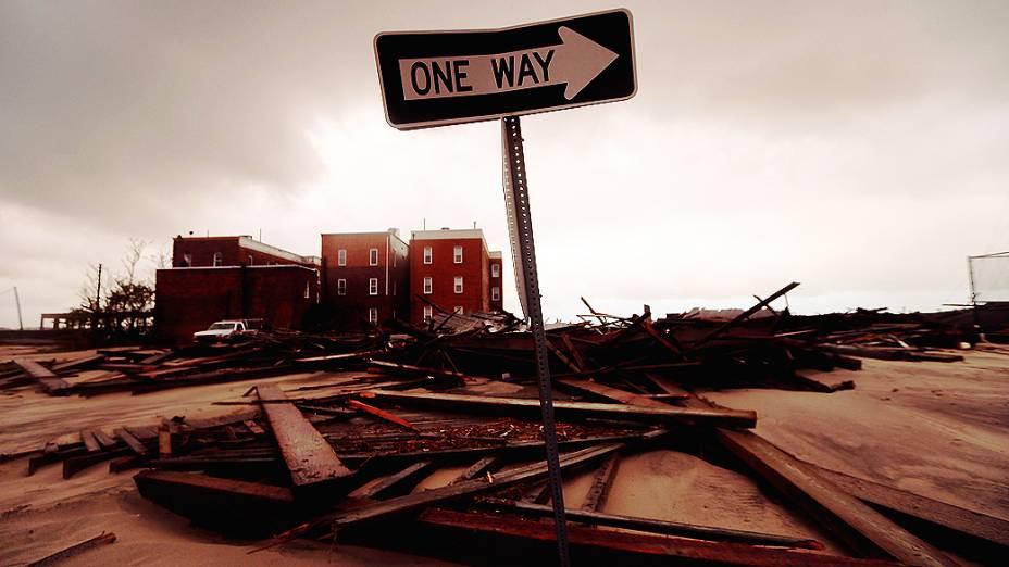 A tempestade tem causado estragos na cidade de Atlantic City (Nova Jersey)