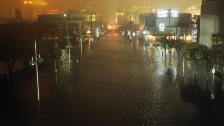 Atlantic City sofre com enchetes, consequência da passagem da tempestade Sandy