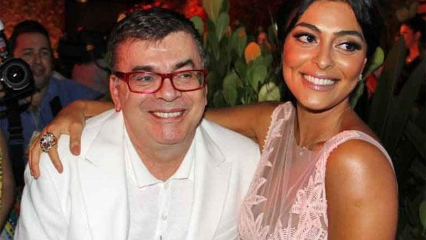 Walcyr Carrasco e Juliana Paes em lançamento de <em>Gabriela</em>, em Salvador