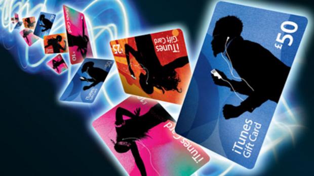 Cartões de presente são uma das formas de comprar música na loja da Apple