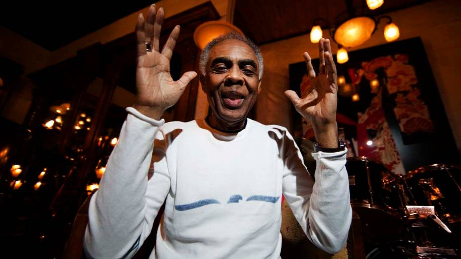 Gilberto Gil após se apresentar no Festival de Jazz de Montreal, na Suíça