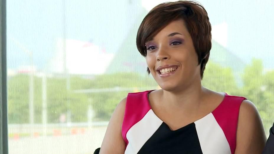 Gina DeJesus fala em um vídeo para expressar gratidão ao povo de Cleveland e em todo o mundo que ofereceram apoio a ela