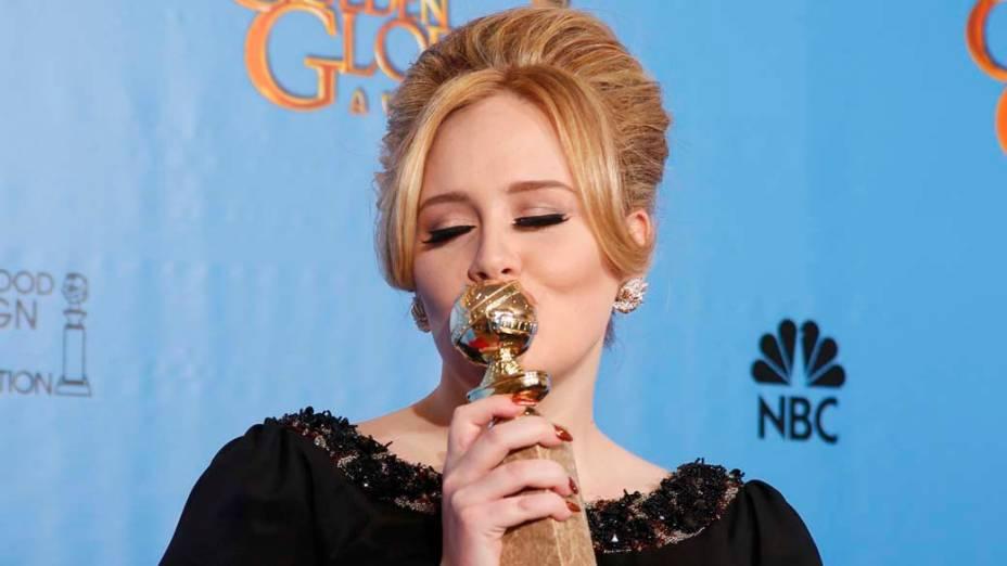 Adele vence a categoria melhor canção original por Skyfall de <em>007-Operação Skyfall</em>