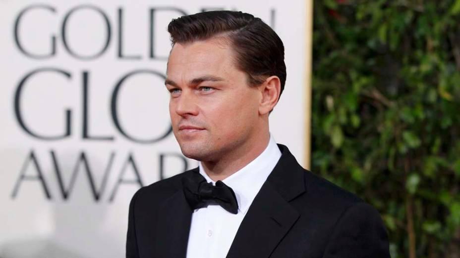 <p>O ator Leonardo DiCaprio no Tapete Vermelho do 70º Globo de Ouro</p>