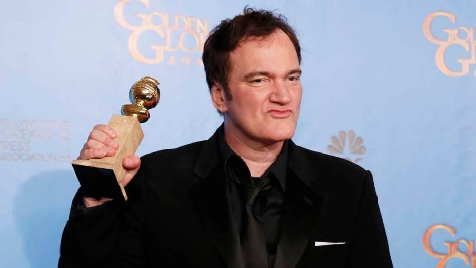Quentin Tarantino ganha o Globo de Ouro de melhor roteiro por <em>Django Livre</em>
