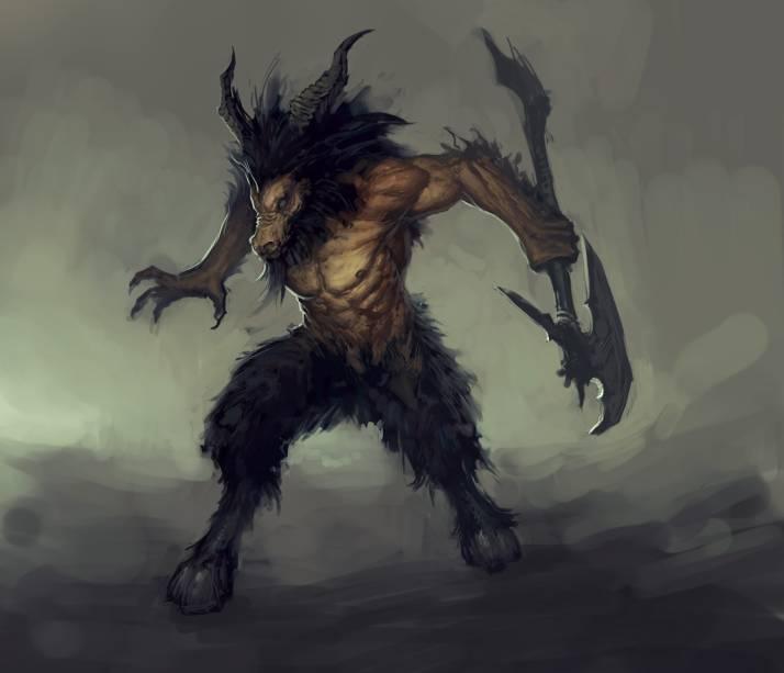 Arte representando um dos inimigos do jogador em Diablo III