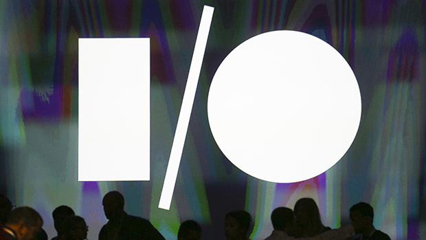 Logotipo do Google I/O no Moscone Center, em São Francisco