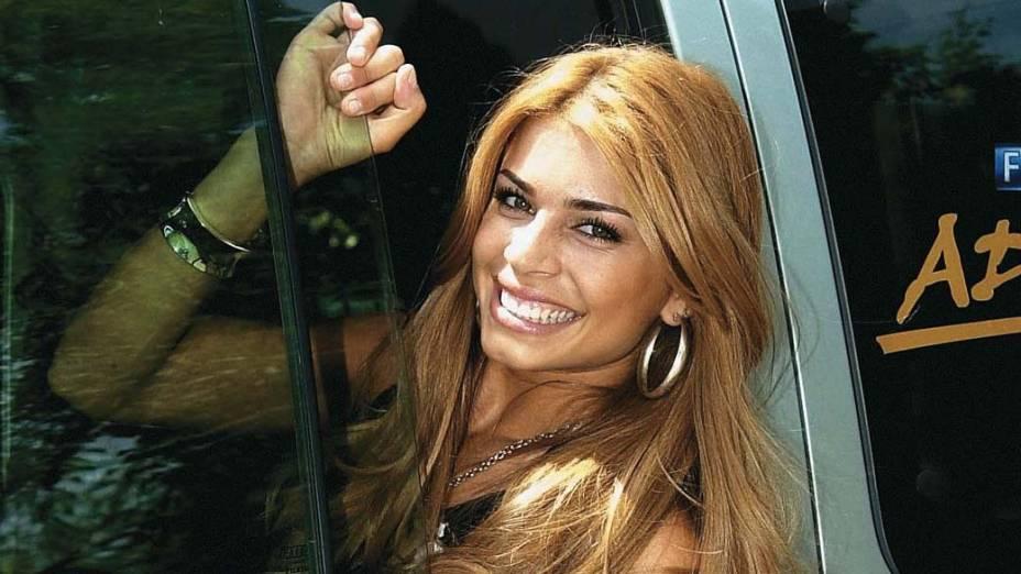 Grazi Massafera como participante do BBB 5 da Rede Globo, em 2005