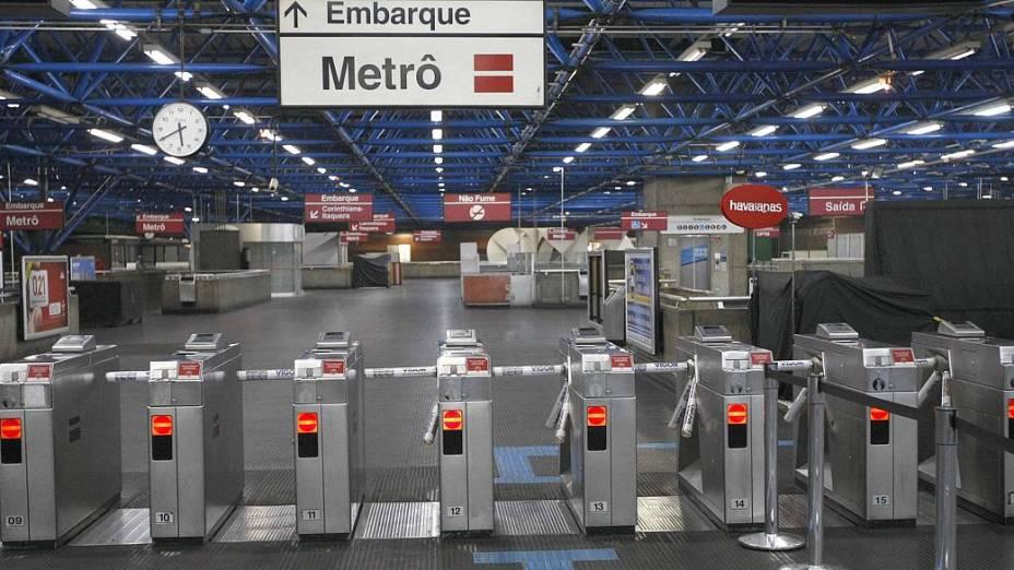 Catracas da estação Tatuapé do metrô