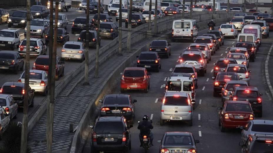 Greve complica o trânsito em São Paulo