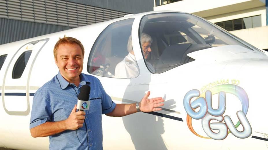Gugu Liberato em seu programa, na Rede Record, em 2009
