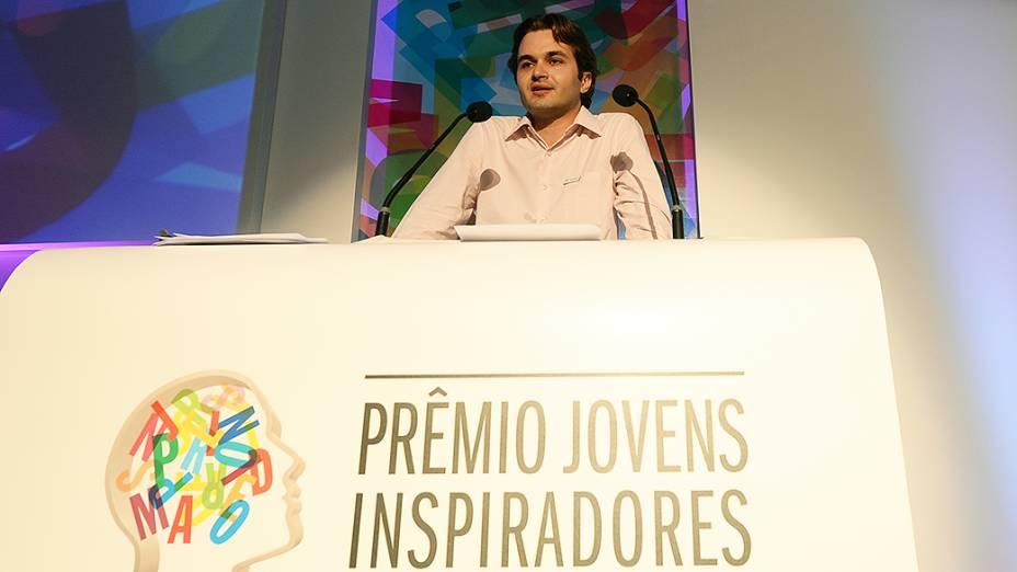 Samuel Gondim, um dos vencedores do Prêmio Jovens Inspiradores