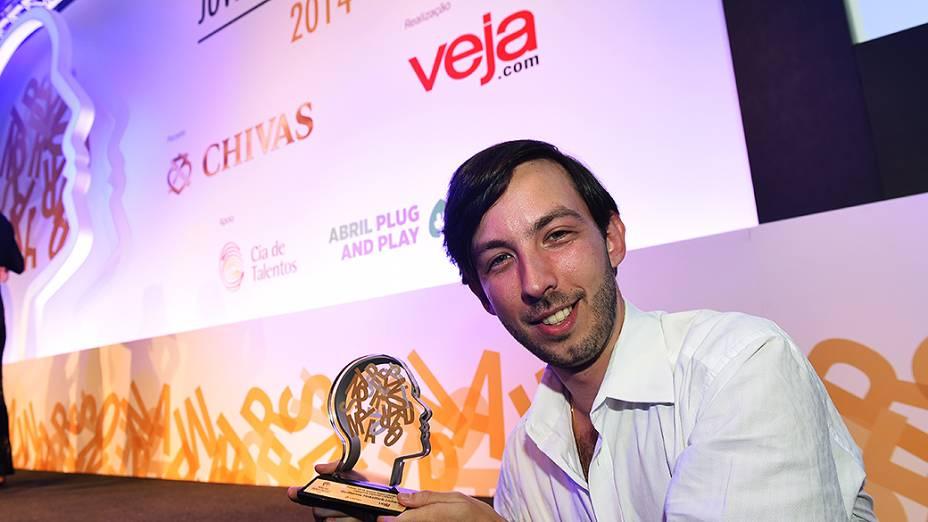 Guilherme Finkelfarb Lichand vencedor na categoria chivas do Prêmio Jovens Inspiradores 2014, em São Paulo<br><br>