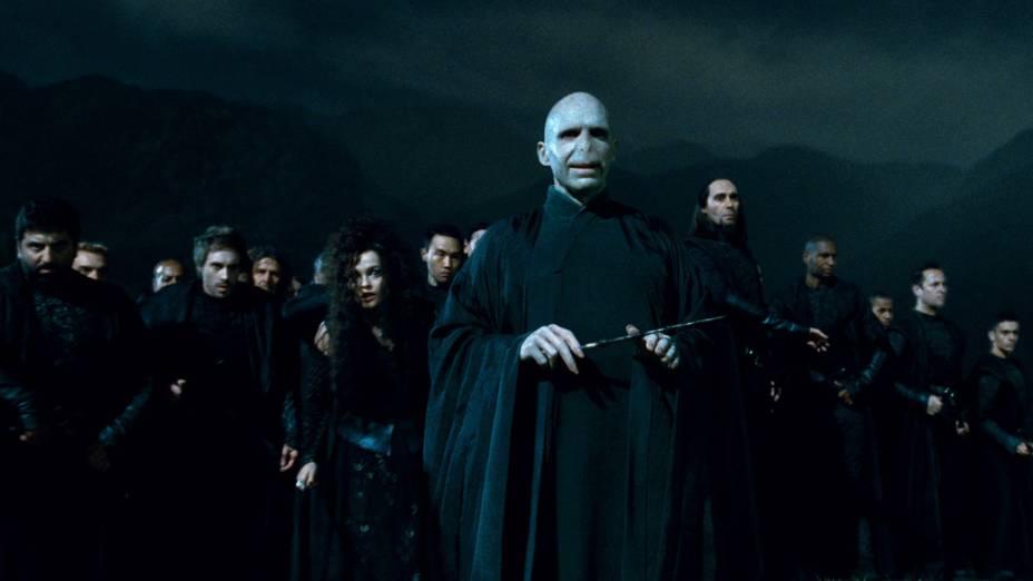 Ralph Fiennes como Lord Voldemort em<em> Harry Potter e as Relíquias da Morte: Parte 2</em>