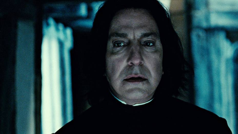 Alan Rickman como Severus Snape em <em>Harry Potter e as Relíquias da Morte: Parte 2 </em>