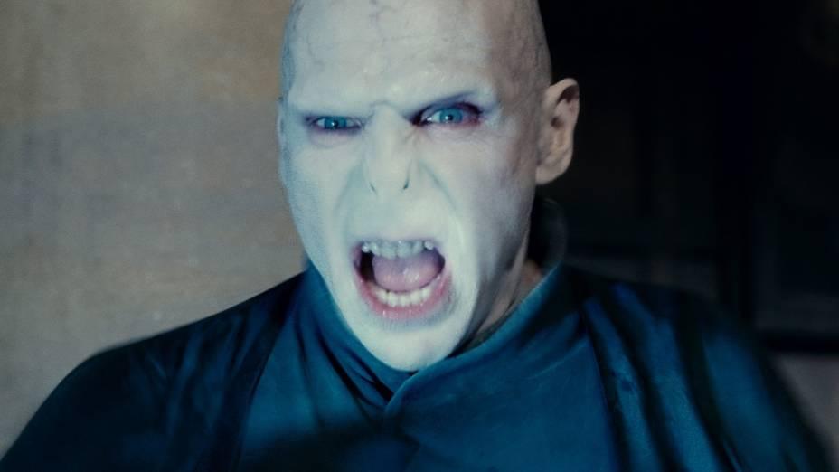 Ralph Fiennes como Lord Voldemort em <em>Harry Potter e as Relíquias da Morte: Parte 2</em>
