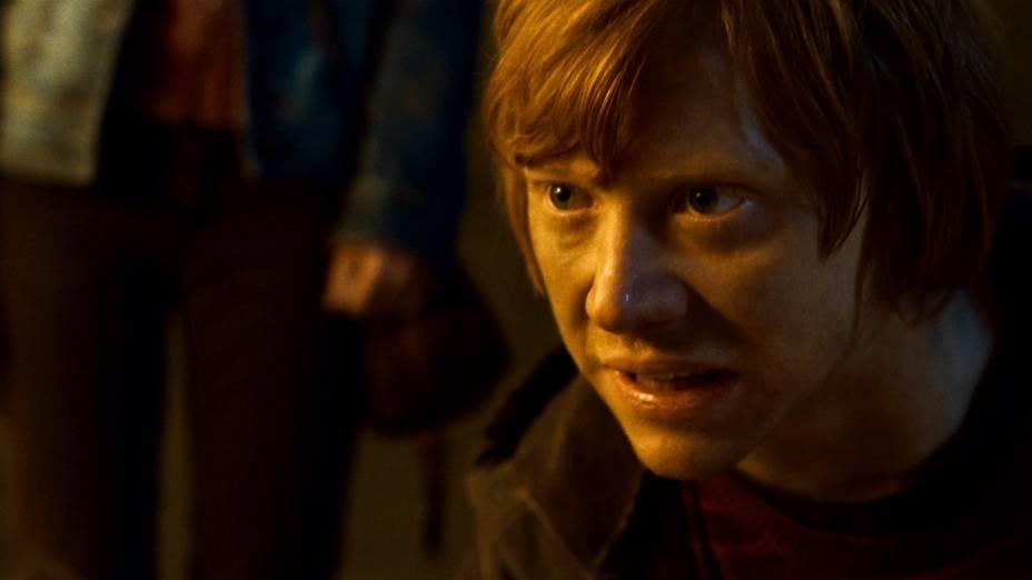 Rupert Grint como Ron Weasley em <em>Harry Potter e as Relíquias da Morte: Parte 2</em>