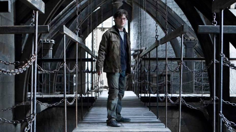 Daniel Radcliffe como Harry Potter em <em>Harry Potter e as Relíquias da Morte: Parte 2</em>