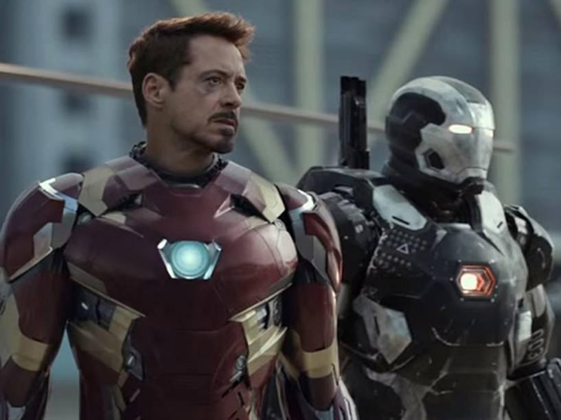 Homem de Ferro (Robert Downey Jr) no filme Capitão América: Guerra Civil