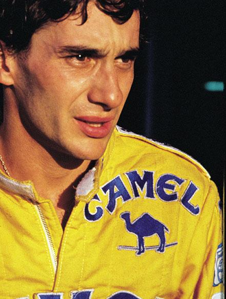 Ayrton Senna no GP de Mônaco em 1987: vitória a bordo de uma Lotus