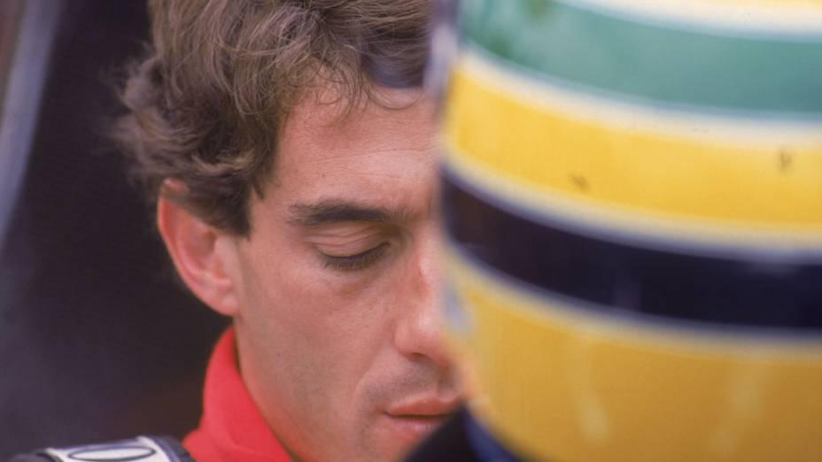 Ayrton Senna durante GP Brasil de 1992