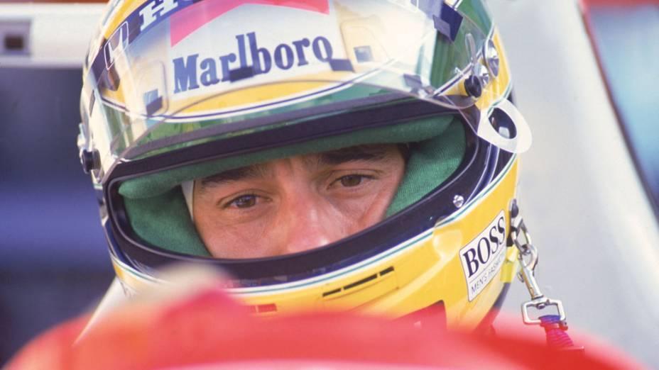 Ayrton Senna, durante GP Brasil de 1991