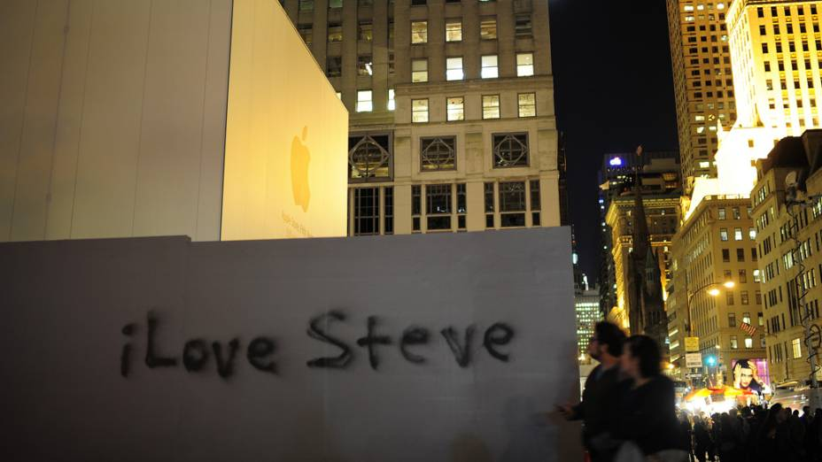 Homenagem a Steve Jobs na 5 ª Avenida, Nova York