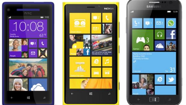 HTC, Nokia Lumia 920 e Samsung Ativ S