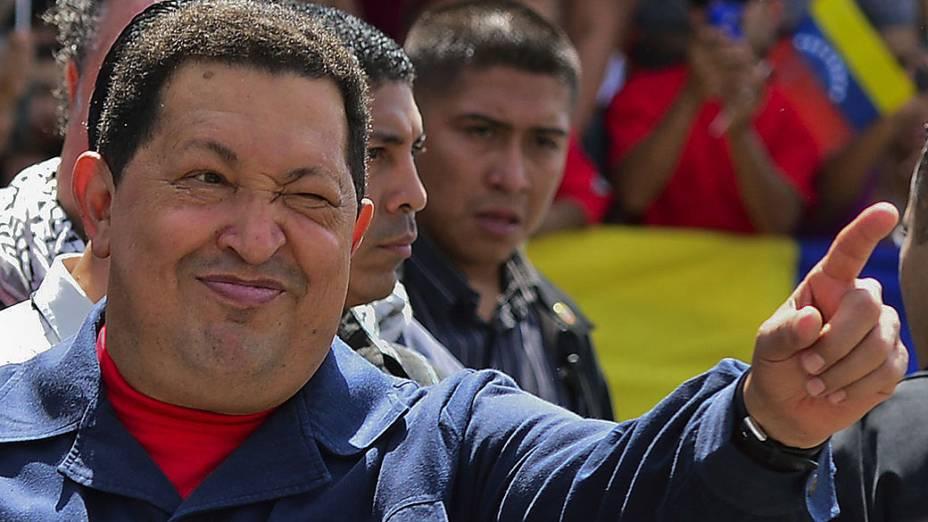 Mandatário chega a local de votação na capital Caracas, no dia 7 de outubro