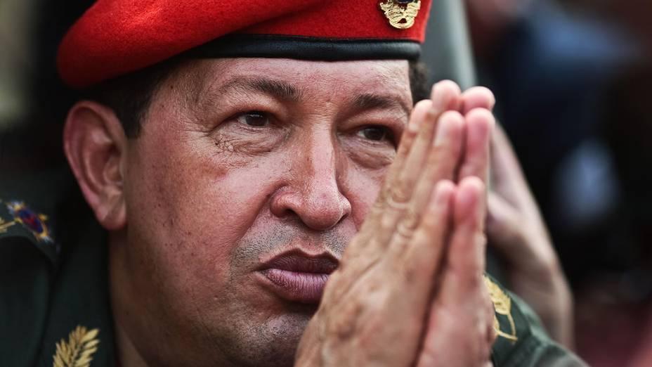 O presidente da Venezuela, Hugo Chávez durante visita na cidade de Guaira, em 2010