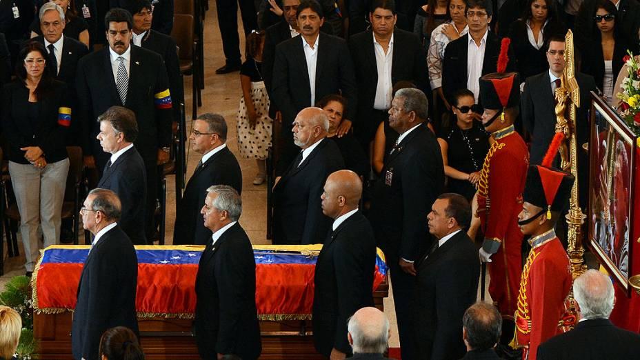 Chefes de estado se reúnem na Venezuela para funeral de Estado de Hugo Chávez