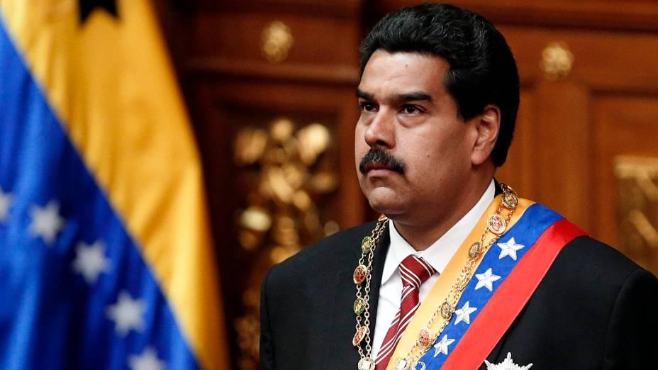 Cerimônia de posse do presidente interino da Venezuela Nicolas Maduro