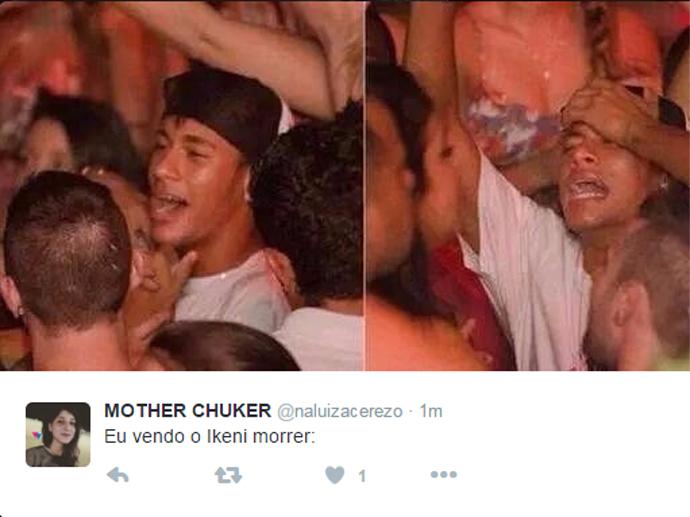Até Neymar chateado com a morte de Ikeni (Vitor Pecoraro) em Os Dez Mandamentos