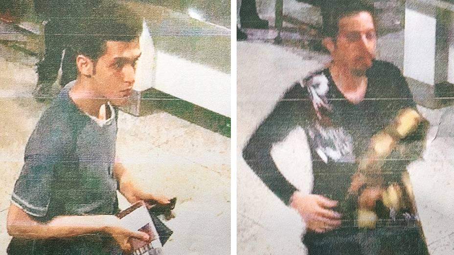 <p>Fotos divulgadas pela polícia da Malásia mostram os dois passageiros que embarcaram com passaportes roubados no voo MH370 da Malaysia Airlines</p>