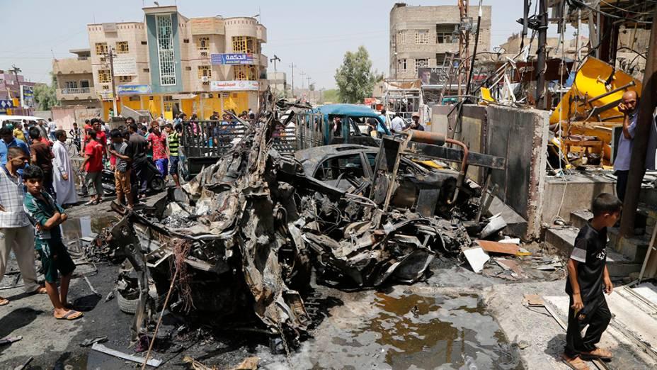 Um carro-bomba explodiu na região central de Bagdá, na manhã desta sexta-feira (01/08/2014). O Iraque vem enfrentando uma forte onda de violência desde o mês passado, quando insurgentes sunitas tomaram posse de grandes faixas de terra ao norte do país