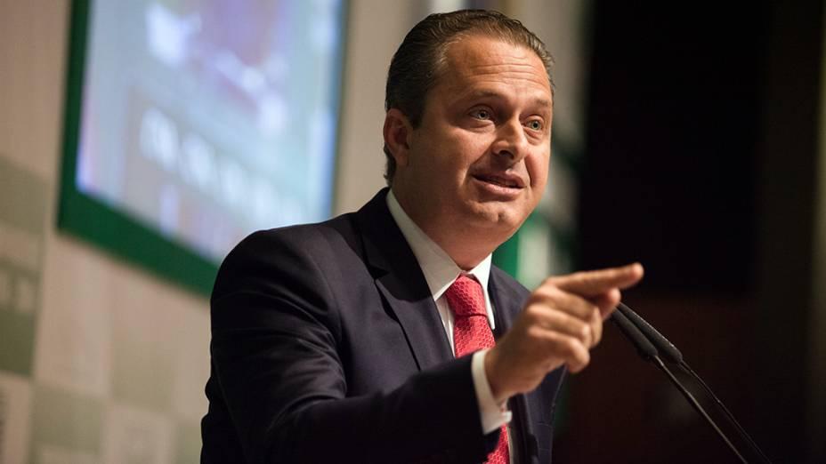 Eduardo Campos durante campanha, em 2014