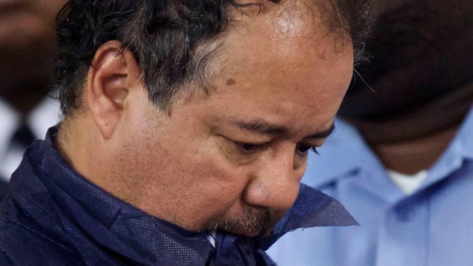 Ariel Castro, acusado por sequestro e estupro das três mulheres, no tribunal em Ohio, Estados Unidos