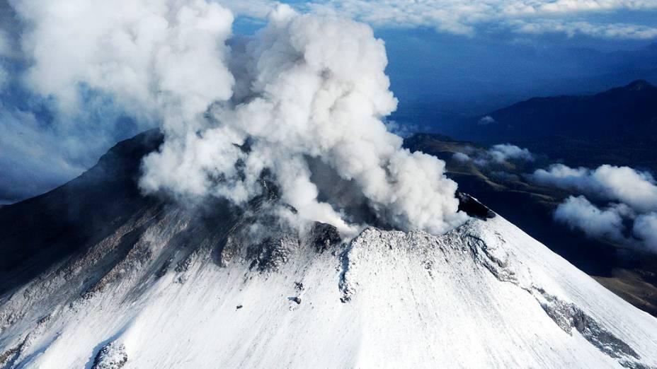 <p>O vulcão Popocatépetl, localizado no centro do México</p>