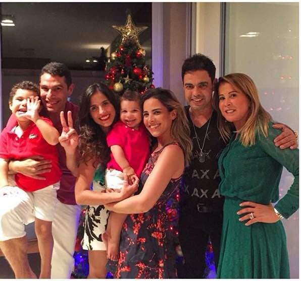 Zezé Di Camargo, Zilu e família passam o Natal juntos
