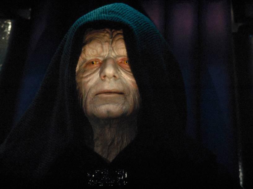 O vilão de Star Wars Imperador Palpatine, mestre de Darth Vader