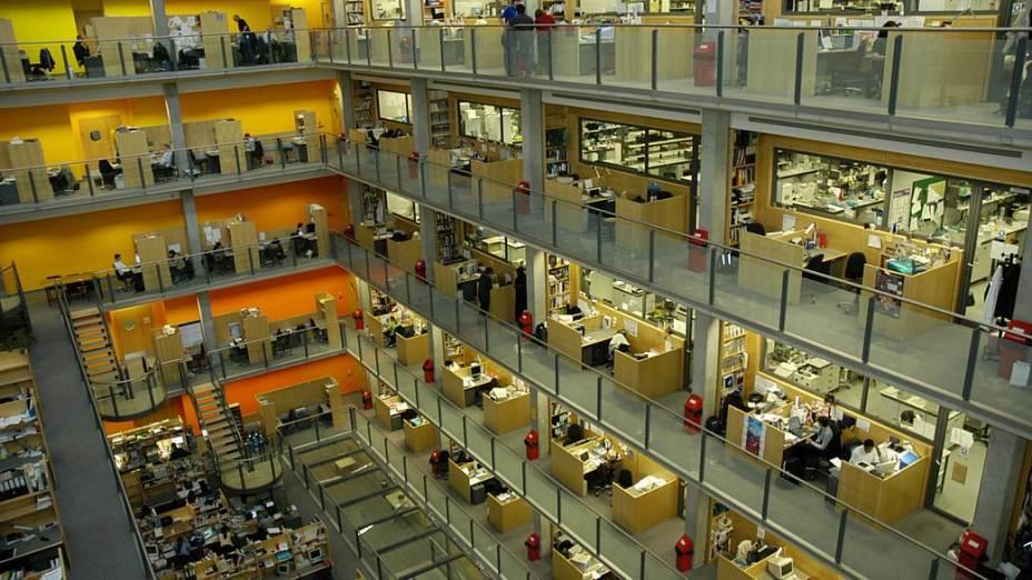 Detalhe interno do prédio Alexander Fleming, do Imperial College London